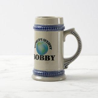 World's Sexiest Bobby 18 Oz Beer Stein