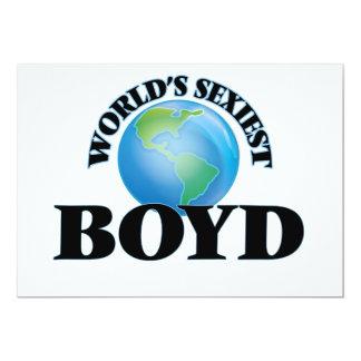 "World's Sexiest Boyd 5"" X 7"" Invitation Card"