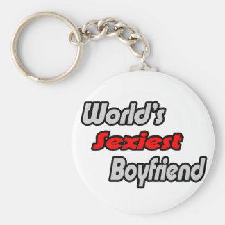 World's Sexiest Boyfriend Basic Round Button Keychain