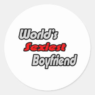 World's Sexiest Boyfriend Classic Round Sticker