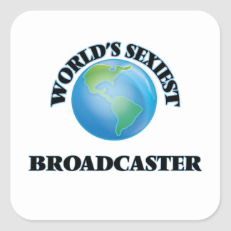 World's Sexiest Broadcaster Square Stickers