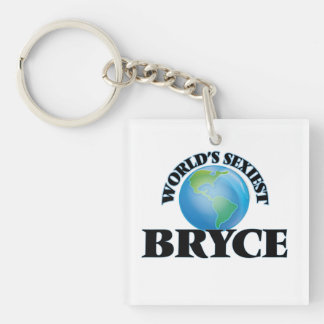 World's Sexiest Bryce Single-Sided Square Acrylic Keychain
