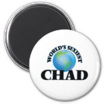 World's Sexiest Chad 2 Inch Round Magnet