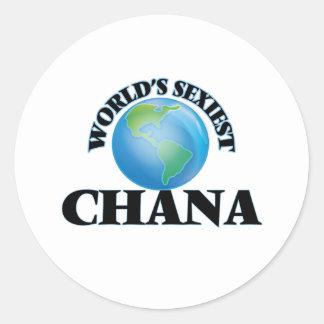 World's Sexiest Chana Classic Round Sticker