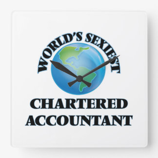 World's Sexiest Chartered Accountant Square Wall Clocks