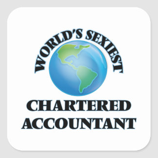 World's Sexiest Chartered Accountant Square Sticker