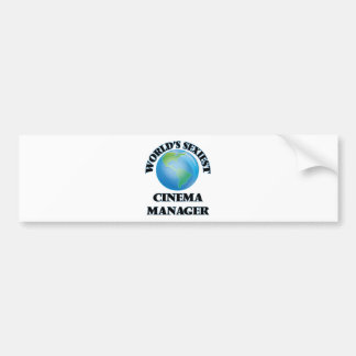World's Sexiest Cinema Manager Bumper Stickers