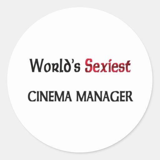 World's Sexiest Cinema Manager Classic Round Sticker