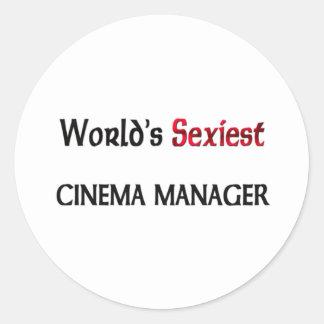 World's Sexiest Cinema Manager Round Sticker