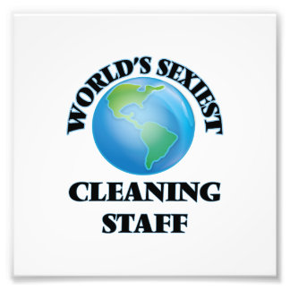 World's Sexiest Cleaning Staff Photo Print
