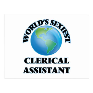 World's Sexiest Clerical Assistant Postcards