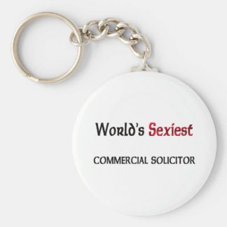 World's Sexiest Commercial Solicitor Basic Round Button Keychain