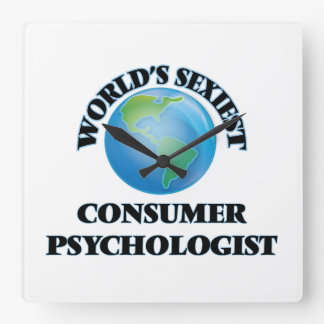 World's Sexiest Consumer Psychologist Square Wall Clock