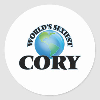 World's Sexiest Cory Round Stickers