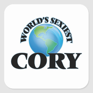 World's Sexiest Cory Square Sticker