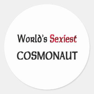 World's Sexiest Cosmonaut Round Sticker