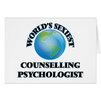 World's Sexiest Counselling Psychologist Cards