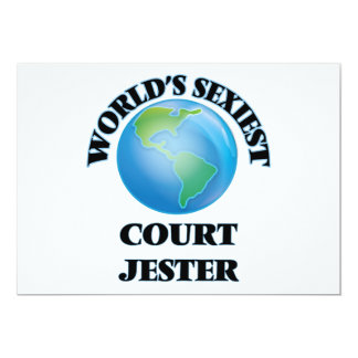 World's Sexiest Court Jester 5x7 Paper Invitation Card