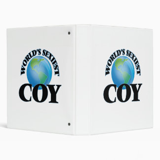 World's Sexiest Coy 3 Ring Binders