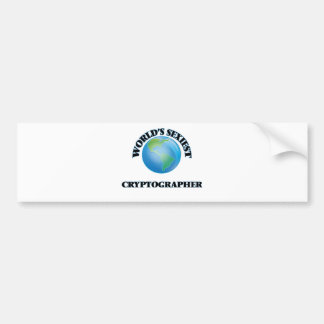 World's Sexiest Cryptographer Car Bumper Sticker