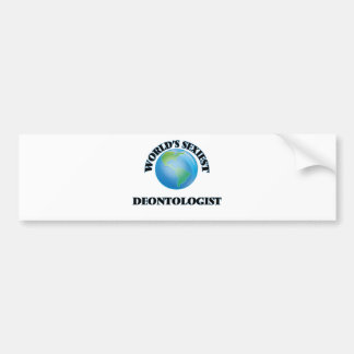 World's Sexiest Deontologist Car Bumper Sticker