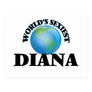 World's Sexiest Diana Postcard