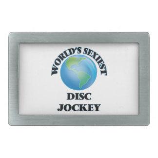 World's Sexiest Disc Jockey Rectangular Belt Buckles