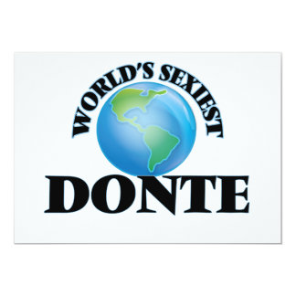 World's Sexiest Donte 5x7 Paper Invitation Card