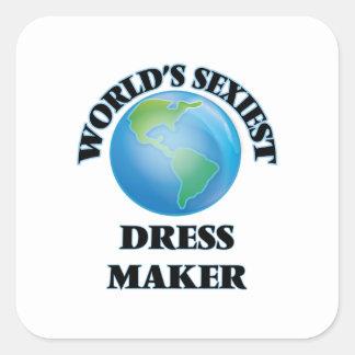 World's Sexiest Dress Maker Square Sticker