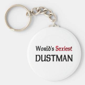 World's Sexiest Dustman Basic Round Button Keychain
