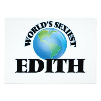World's Sexiest Edith 5x7 Paper Invitation Card
