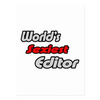 World's Sexiest Editor Postcard