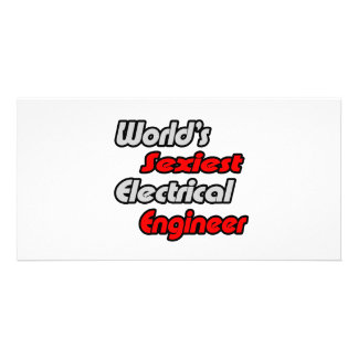 World's Sexiest Electrical Engineer Personalized Photo Card