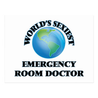 World's Sexiest Emergency Room Doctor Postcard