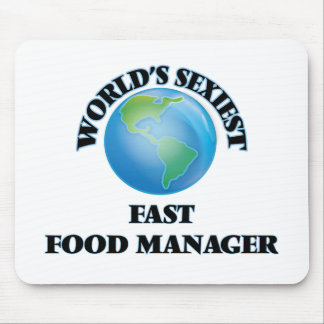 World's Sexiest Fast Food Manager Mouse Pads