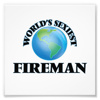 World's Sexiest Fireman Photograph