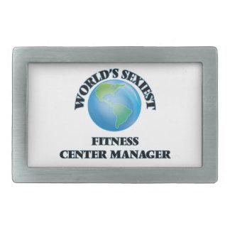 World's Sexiest Fitness Center Manager Rectangular Belt Buckle