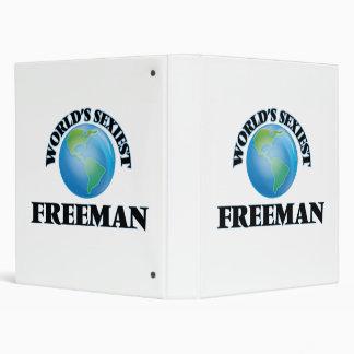 World's Sexiest Freeman 3 Ring Binder