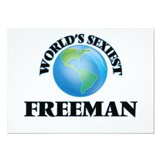 World's Sexiest Freeman 5x7 Paper Invitation Card