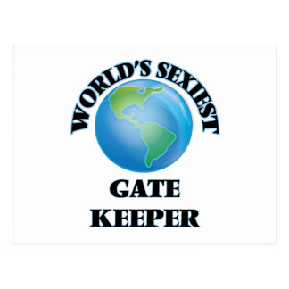 World's Sexiest Gate Keeper Postcard