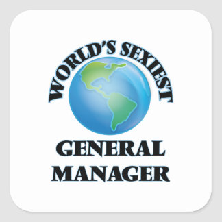 World's Sexiest General Manager Square Sticker