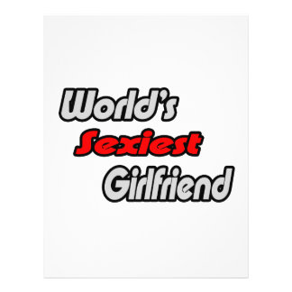 World's Sexiest Girlfriend Personalized Flyer