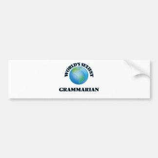 World's Sexiest Grammarian Car Bumper Sticker