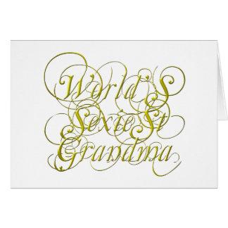 Worlds Sexiest Grandma Card
