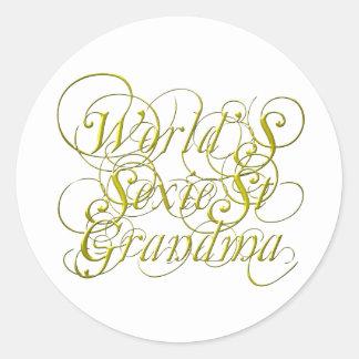 Worlds Sexiest Grandma Classic Round Sticker