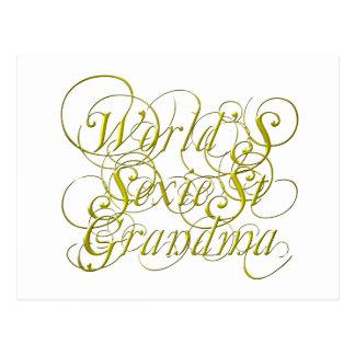 Worlds Sexiest Grandma Postcard