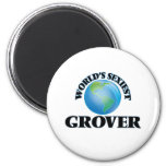 World's Sexiest Grover 2 Inch Round Magnet