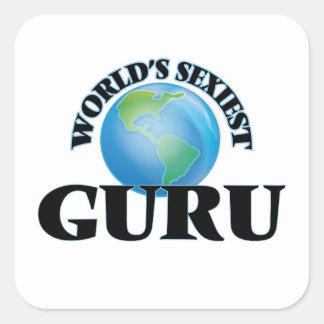World's Sexiest Guru Square Sticker