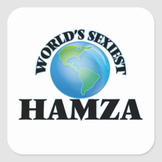 World's Sexiest Hamza Square Stickers