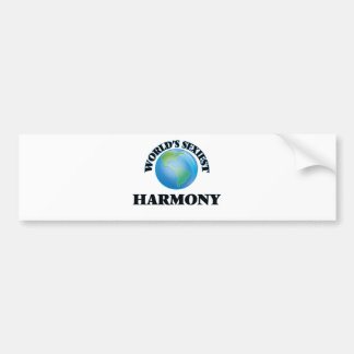 World's Sexiest Harmony Bumper Stickers